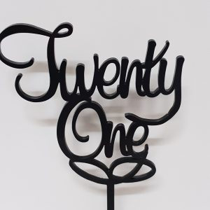 Acrylic Cake Topper - Twenty One