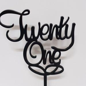 Acrylic Cake Topper - Twenty One