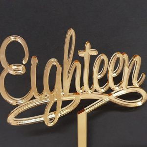 Acrylic Cake Topper - Eighteen